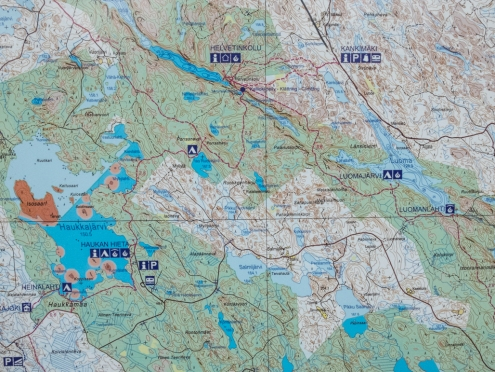 Helvetinjärvi map