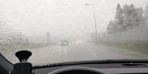 Heavy rain and thunder